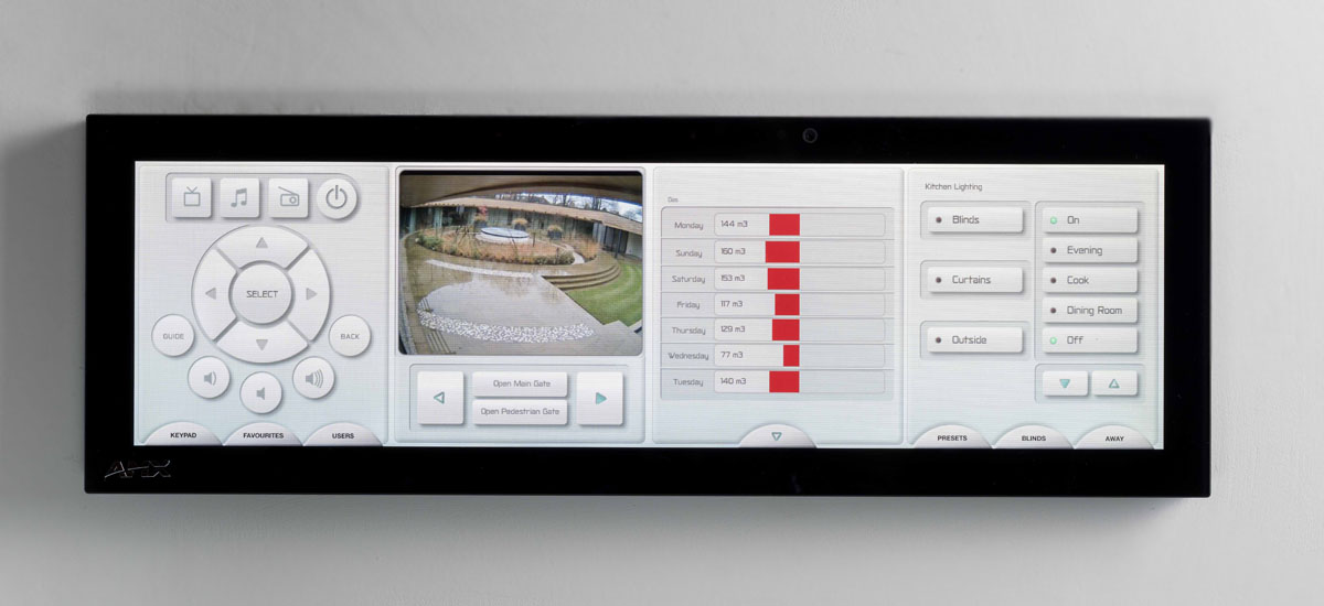smart home control_AMX touch screen